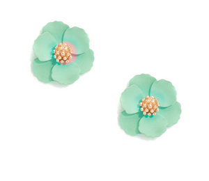 Mini Floral Stud Earrings - Revibe Designs