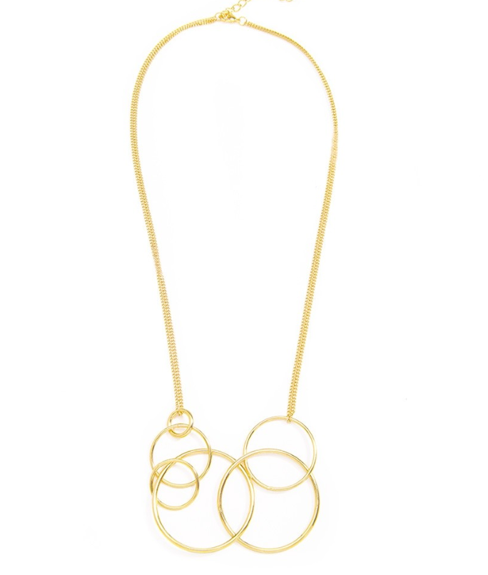 Multi Circle Loop Necklace - Revibe Designs