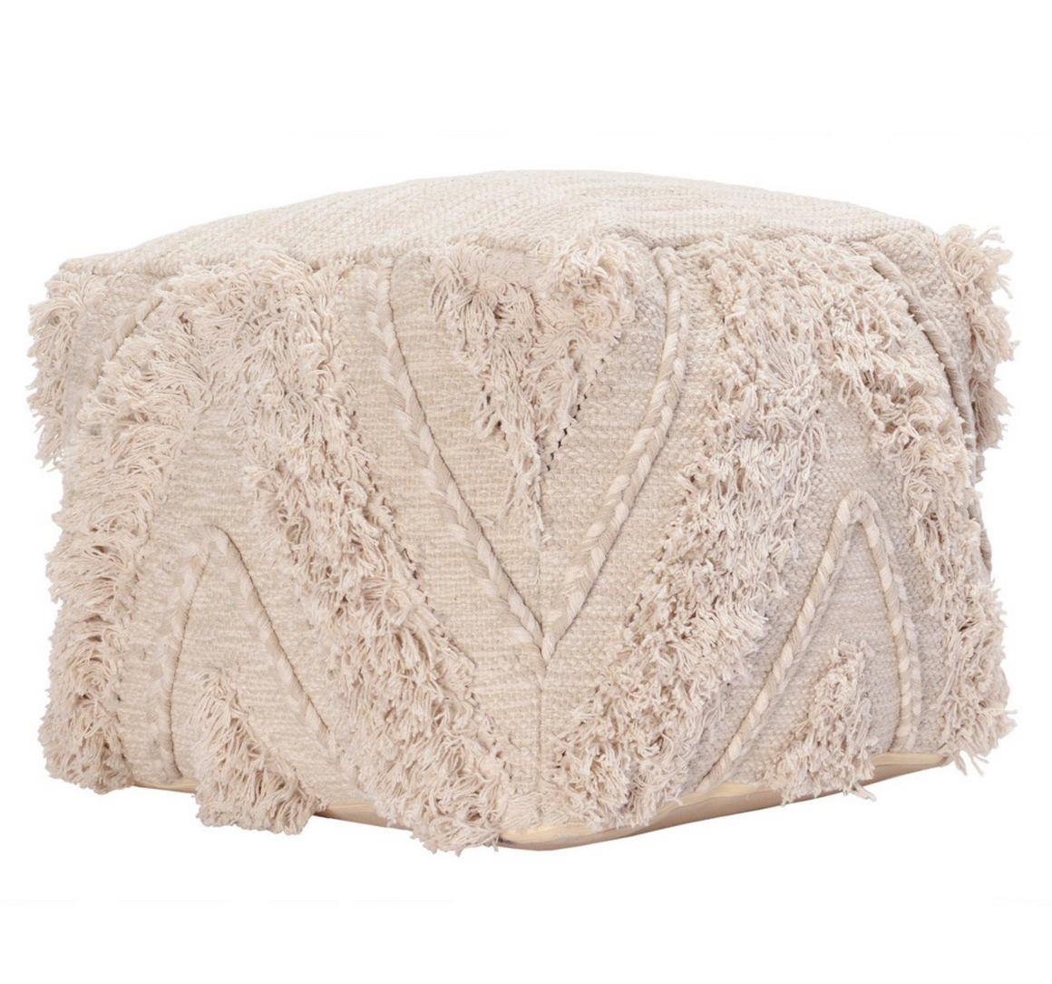 Sahara Natural Pouf/ Ottoman - Revibe Designs
