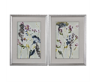 Parchment Flower Art Set of 2 - Revibe Designs