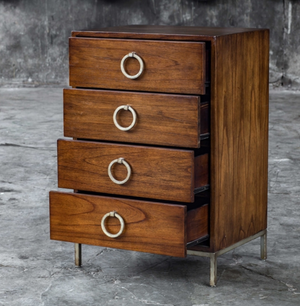 Lucette Honey Drawer Chest - Revibe Designs