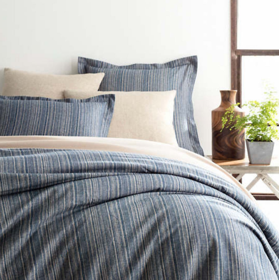 Cascade Stripe Flannel Duvet - Revibe Designs