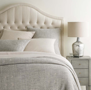 Elsa Grey Matelasse Coverlet - Revibe Designs