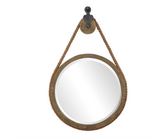 Melton Round Pulley Mirror - Revibe Designs