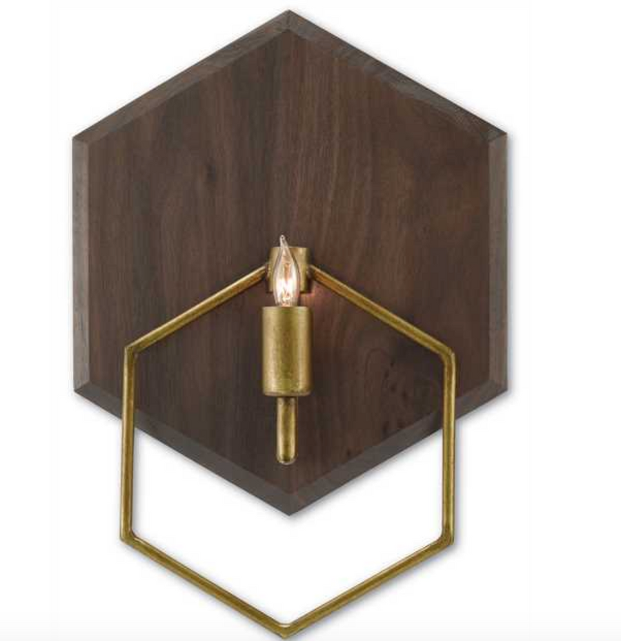 Double Hex Wall Sconce - Revibe Designs