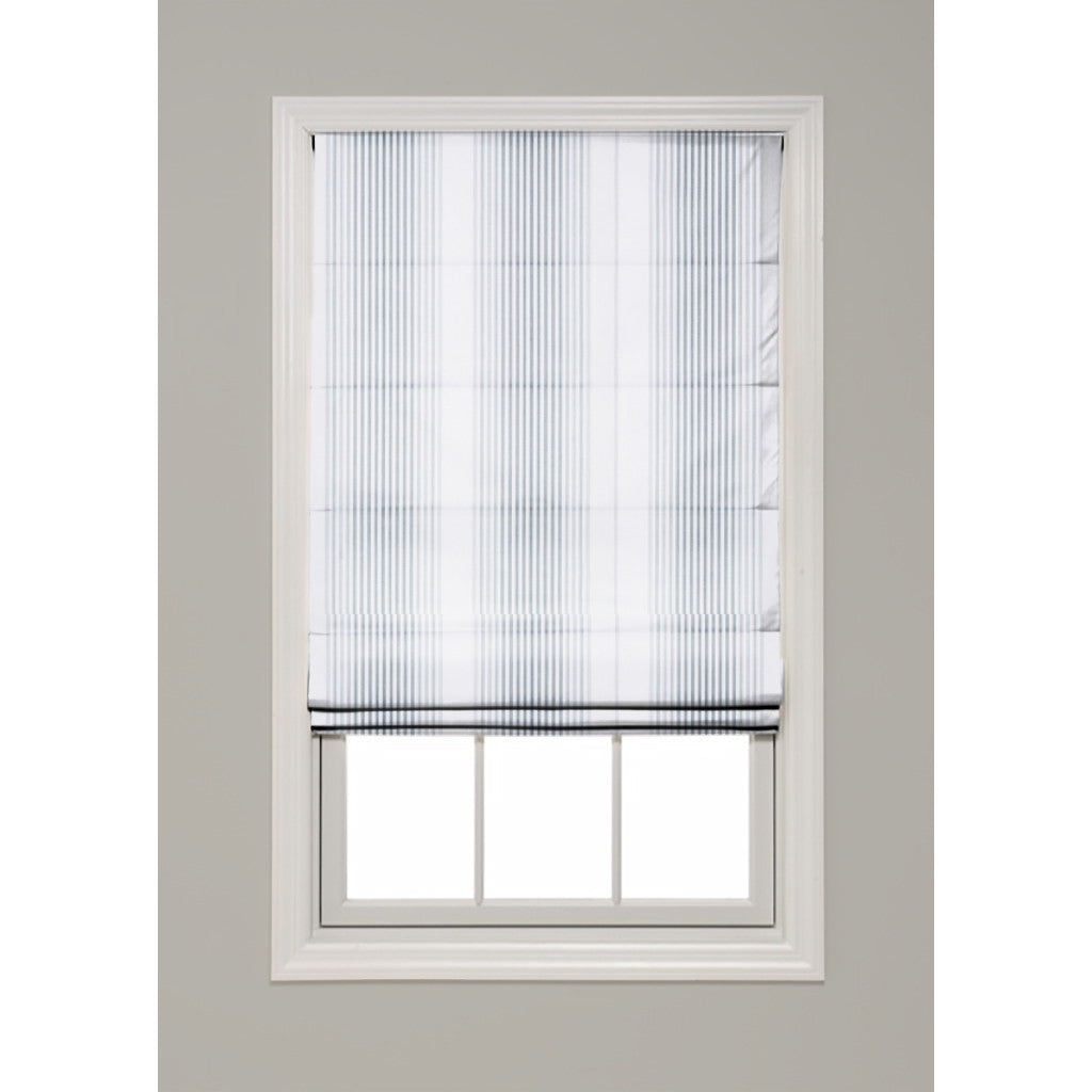 Tivoli Stripe Hobbled Roman Shade - Revibe Designs