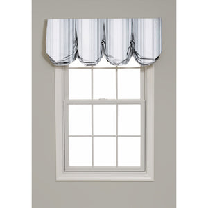 Tivoli Stripe Pleated Balloon Valance - Revibe Designs