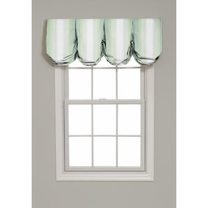 Tivoli Stripe Pleated Balloon Valance