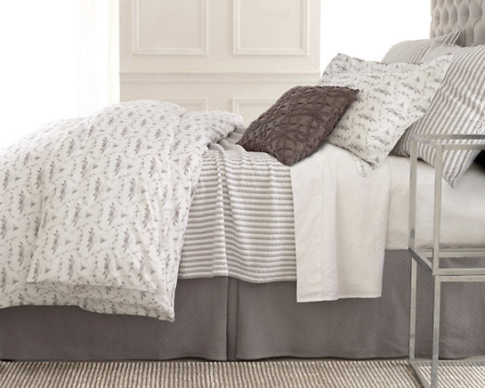 Town and Country Gray Mattelasse Coverlet