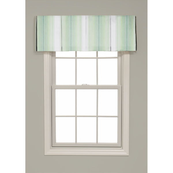 Inverted Box Pleat Trivoli Stripe Valance - Revibe Designs
