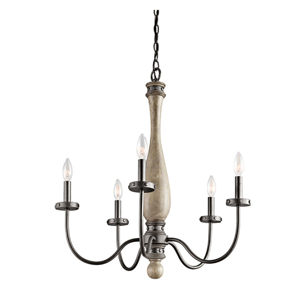 Distressed Wood Chandelier - Revibe Designs