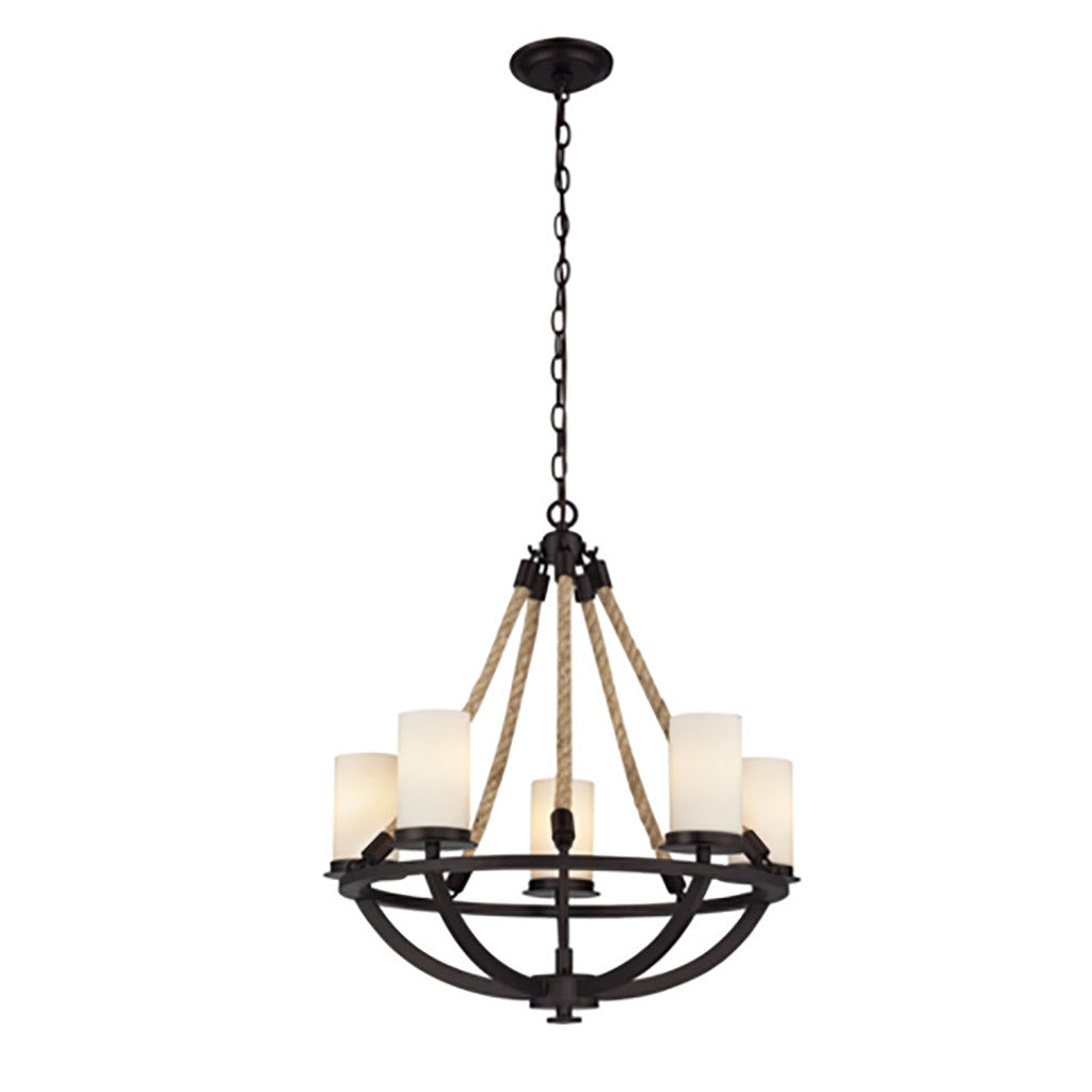 Bronze Rope Chandelier - Revibe Designs