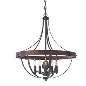Single Tier Acorn Chandelier - Revibe Designs