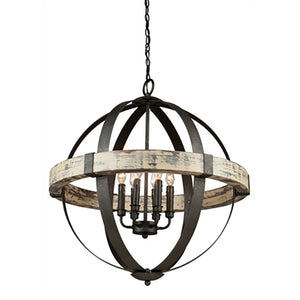 Aspen Wood Sphere Chandelier - Revibe Designs