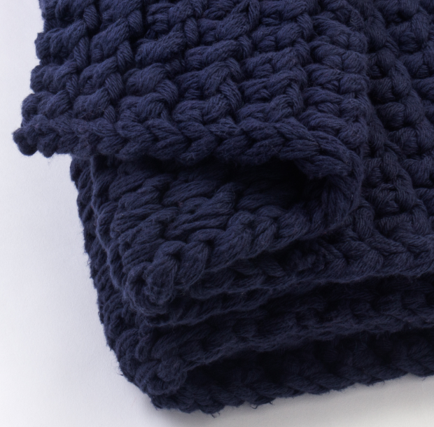 Bennet Indigo Throw - Revibe Designs