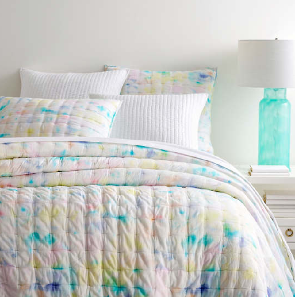 Watercolor Burst Coverlet / Quilt - Revibe Designs