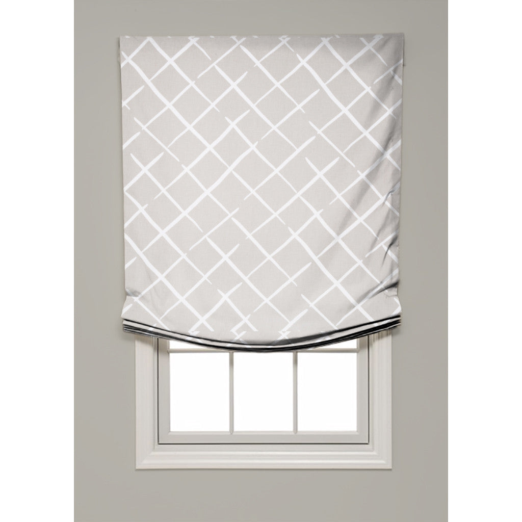Cove End Relaxed Roman Shade - Revibe Designs