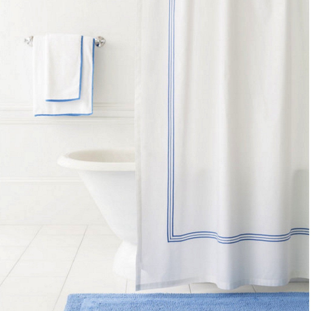 Trio Linen Shower Curtain
