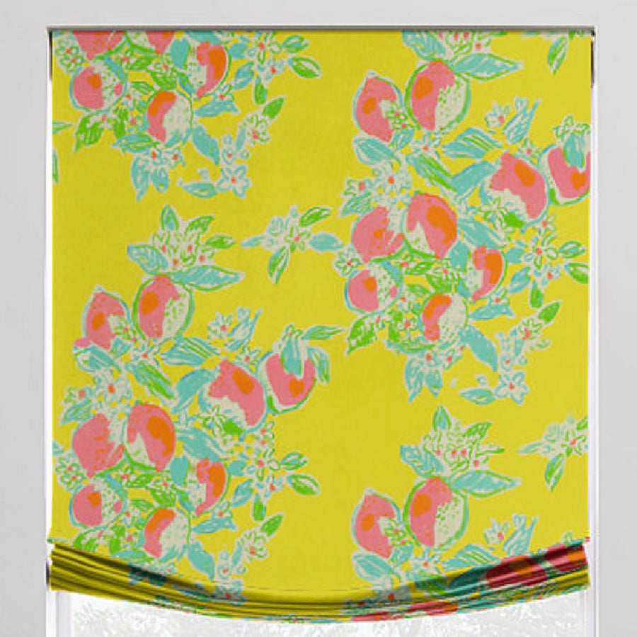 Fruit Toss Relaxed Roman Shade - Revibe Designs