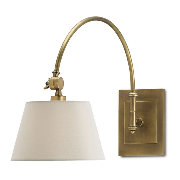Ashby Brass Swing Arm Wall Sconce - Revibe Designs