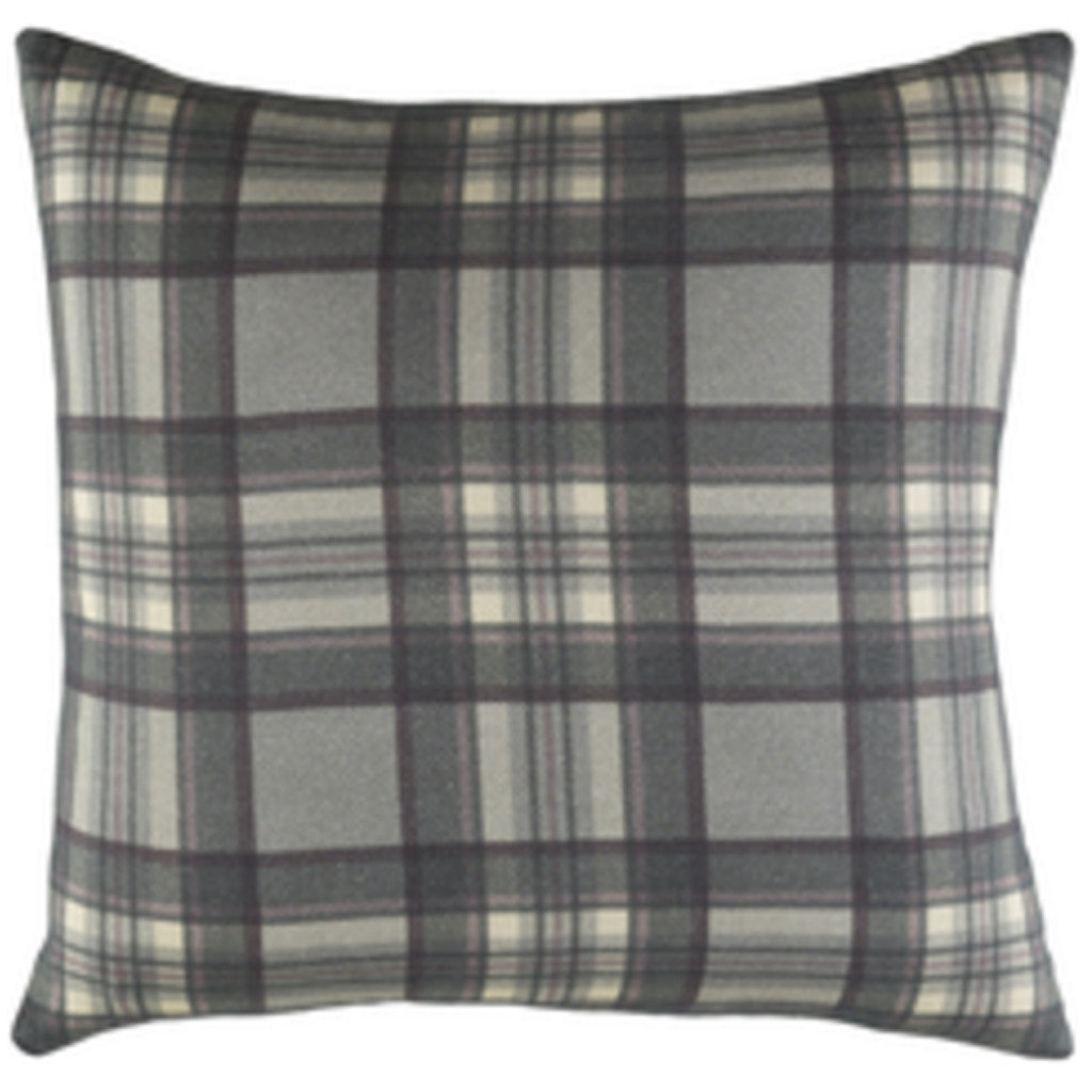 Gray Plaid PIllow - Revibe Designs