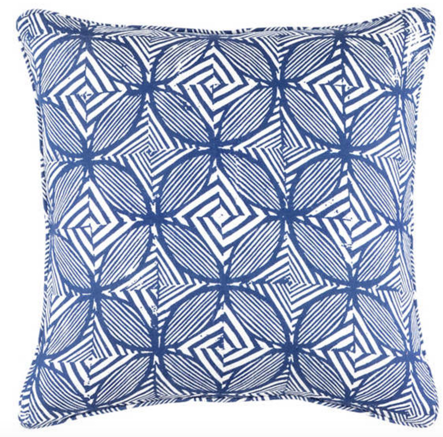 Labyrinth Linen Pillow
