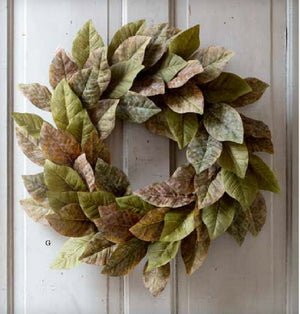 Magnolia Leaf Wreath - Revibe Designs