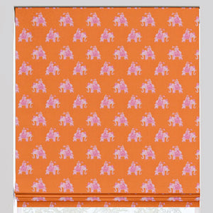 Elephants on Parade Roman Shade - Revibe Designs