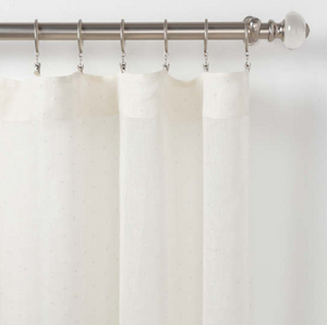 Savannah Dot Linen Curtain Panel