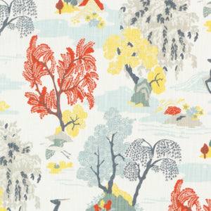 Modern Toile Flat Roman Shade - Revibe Designs