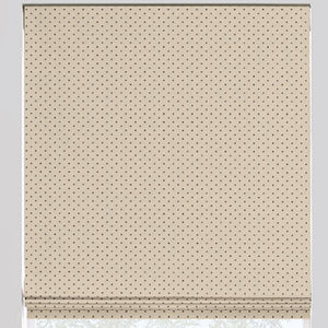 Polka Dot Flat Roman Shade - Revibe Designs