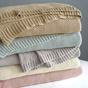 Remi Knit Blanket - Revibe Designs