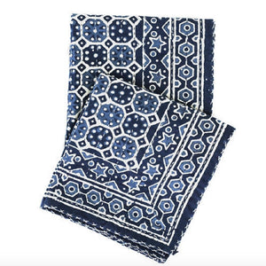 Resist  Indigo Throw - Revibe Designs