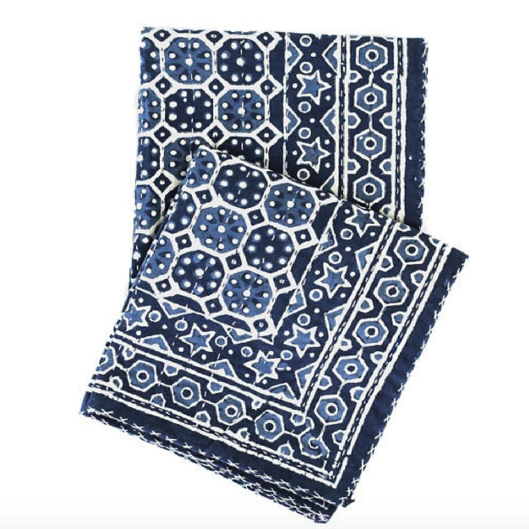 Resist  Indigo Throw