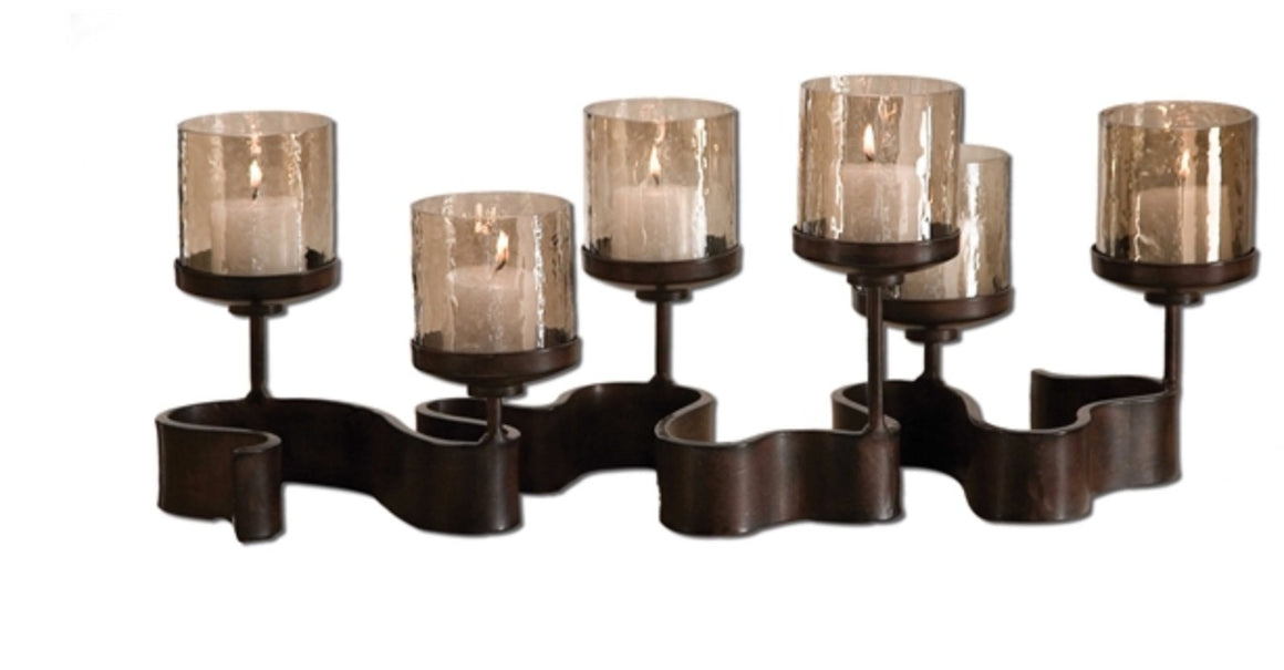 Ribbon Metal Candle Holder