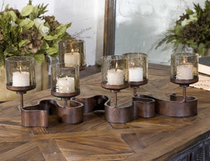 Ribbon Metal Candle Holder - Revibe Designs