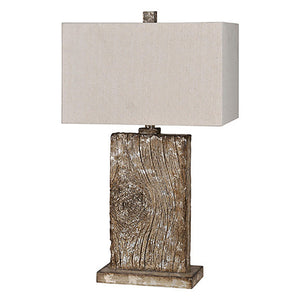 Rustic Wood Table Lamp /Light