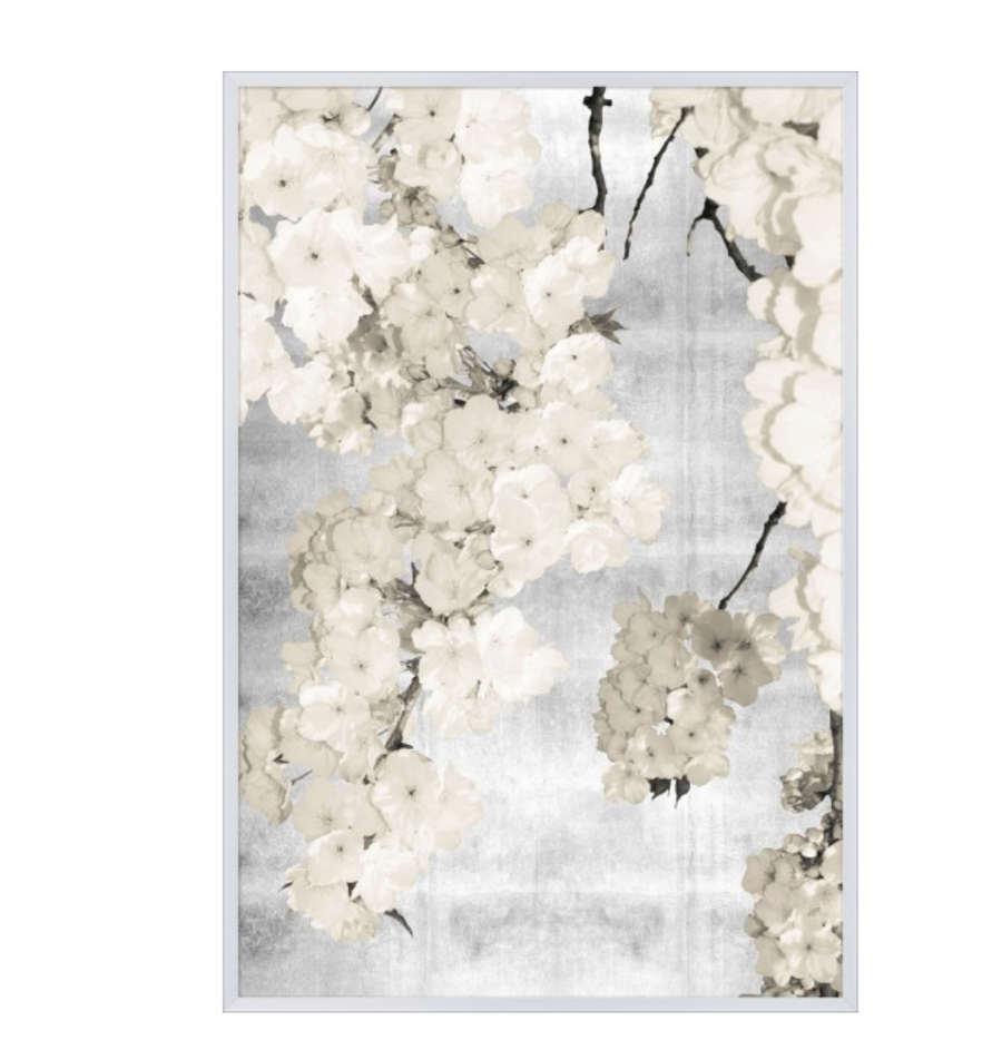 Silver Blossoms Art - Revibe Designs