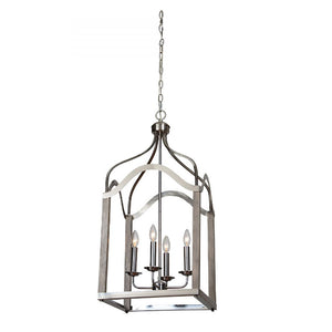 Victoria Silver Lantern Pendant Light - Revibe Designs