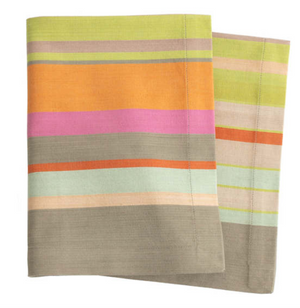 Stone Soup Stripe Napkins Set/4