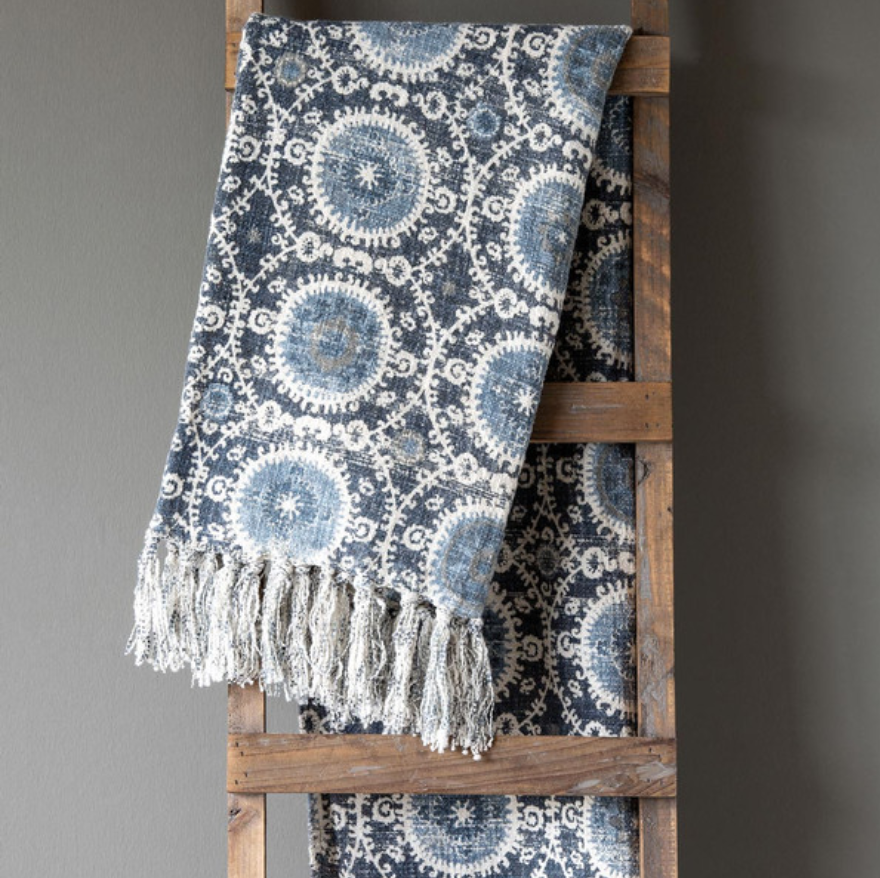 Suzani Printed Throw - Revibe Designs