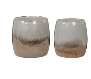 Tinley Blown Glass Vases Set of 2 - Revibe Designs