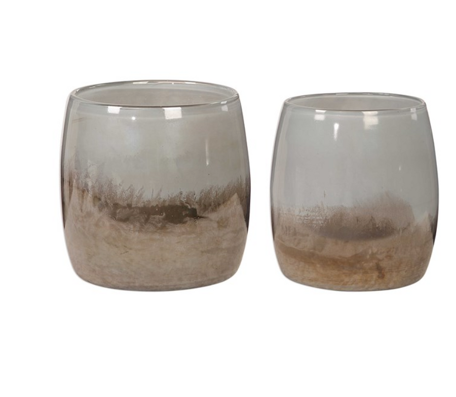 Tinley Blown Glass Vases Set of 2