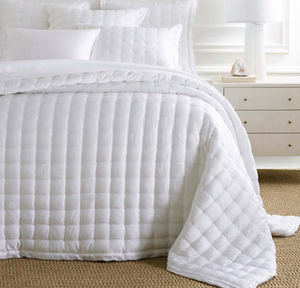 Silken Solid Puff Coverlet