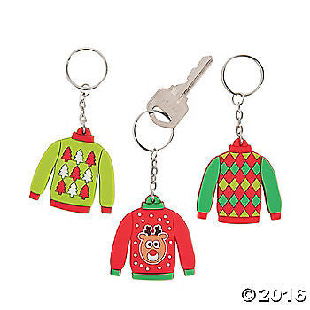 Ugly Sweater Key Chains