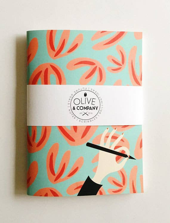 Olive & Company Abstract Floral Pattern Journal