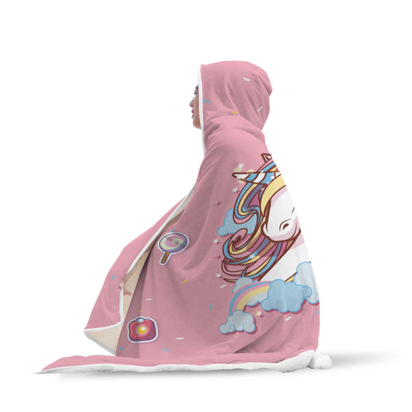 Good Vibes Unicorn Hooded Blanket