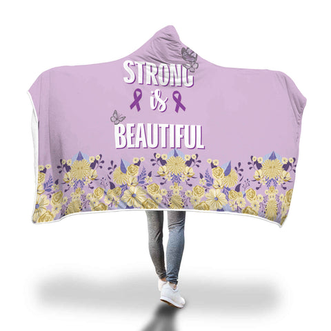 Alzheimer's Awareness Strong is Beautiful Hooded Blanket