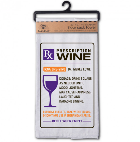 Rx Wine Flour Sack Towel
