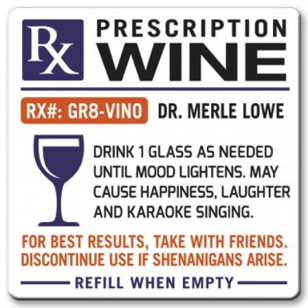 Rx Prescription Wine Magnet